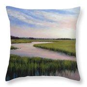Marsh Blush Throw Pillow