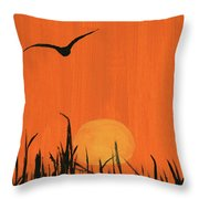 Marsh Home Throw Pillow