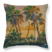 Marsh In The Morning Throw Pillow
