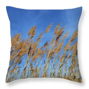 Marsh In The Wind Throw Pillow