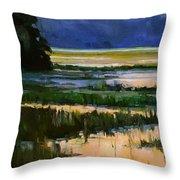 Marsh Jazz Throw Pillow