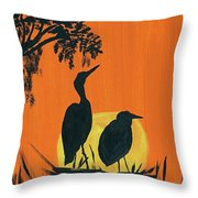 Marsh Nest Throw Pillow
