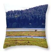 Marsh People Throw Pillow