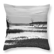 Marsh Skeletons Throw Pillow