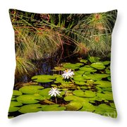 Marsh Waterlilies  Throw Pillow