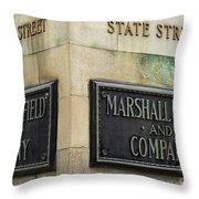 Marshal Field And Company Throw Pillow