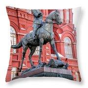 Marshal Georgy Konstantinovich Zhukov Statue Throw Pillow