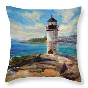 Marshal Point Light Throw Pillow