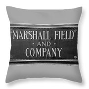 Marshall Field Plaque Throw Pillow