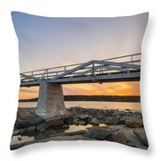 Marshall Point Light Sunset Throw Pillow