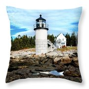 Marshall Point Reflection Throw Pillow