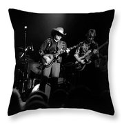 Marshall Tucker Winterland 1975 #12 Enhanced Bw Throw Pillow