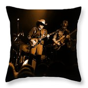 Marshall Tucker Winterland 1975 #12 Enhanced In Amber Throw Pillow