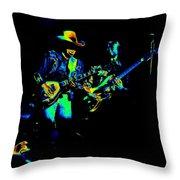 Marshall Tucker Winterland 1975 #14 Enhanced In Cosmicolors Throw Pillow