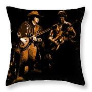 Marshall Tucker Winterland 1975 #17 Enhanced In Amber Throw Pillow