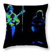 Marshall Tucker Winterland 1975 #18 Enhanced In Cosmicolors #2 Throw Pillow
