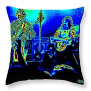Marshall Tucker Winterland 1975 #18 In Special Cosmicolors Throw Pillow