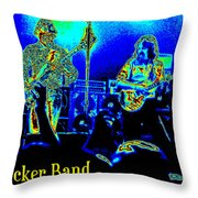 Marshall Tucker Winterland 1975 #18 In Special Cosmicolors With Text Throw Pillow