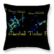Marshall Tucker Winterland 1975 #19 Enhanced In Cosmicolors With Text Throw Pillow