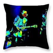 Marshall Tucker Winterland 1975 #23 Enhanced In Cosmicolors Throw Pillow