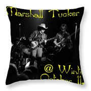 Marshall Tucker Winterland 1975 #3 Crop 2 With Text Throw Pillow
