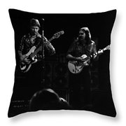 Marshall Tucker Winterland 1975 #36 Enhanced Bw Throw Pillow