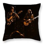 Marshall Tucker Winterland 1975 #36 Enhanced In Amber Throw Pillow
