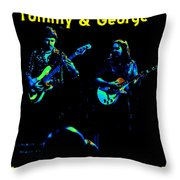Marshall Tucker Winterland 1975 #36 Enhanced In Cosmicolors With Text Throw Pillow