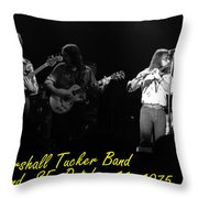 Marshall Tucker Winterland 1975 #37 Crop 2 With Text Throw Pillow