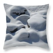 Marshmallow Rocks Throw Pillow