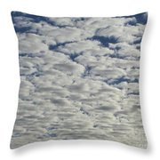Marshmallow Sky Throw Pillow