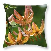 Martagon Lily Throw Pillow
