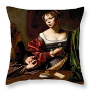 Martha And Mary Magdalen Throw Pillow