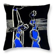 Martha And Mary Of Bethany Throw Pillow by Gloria Ssali