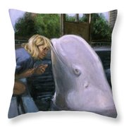 Martha Listens Throw Pillow