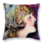 Martha Mansfield, Photoplay July 1920 Throw Pillow