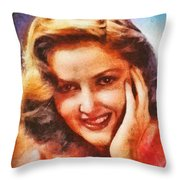 Martha Vickers, Vintage Hollywood Actress Throw Pillow