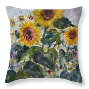 Martha's Sunflowers Throw Pillow