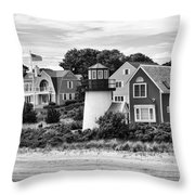 Hyannis Lighthouse Bw Throw Pillow