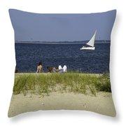 A Day At The Beach 2 - Martha's Vineyard Throw Pillow