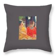 marthe in red blouse c1928 Pierre Bonnard Throw Pillow