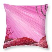Martian Dusk Throw Pillow
