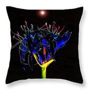 Martian Flower Throw Pillow