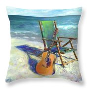 Martin Goes To The Beach Throw Pillow