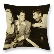 Martin, Lewis, And Clooney Throw Pillow