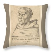Martin Luther As An Augustinian Monk Throw Pillow