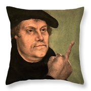Martin Luther  Finger Throw Pillow