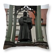 Martin Luther In Market Square Throw Pillow
