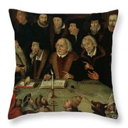 Martin Luther In The Circle Of Reformers Throw Pillow