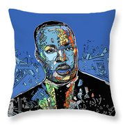 Martin Luther King Color Throw Pillow